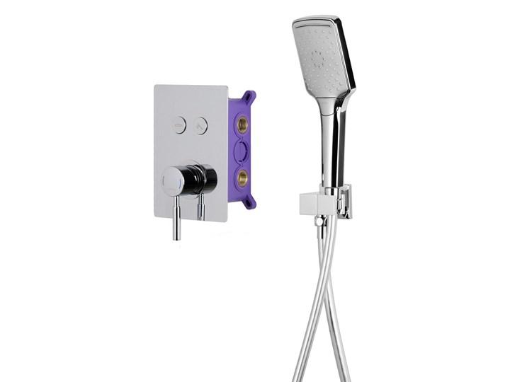 Prysznicowy zestaw podtynkowy Corsan chrom Wyposażenie Z baterią