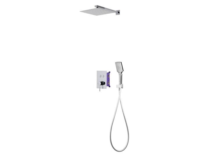 Prysznicowy zestaw podtynkowy Corsan chrom Wyposażenie Z baterią Wyposażenie Z słuchawką