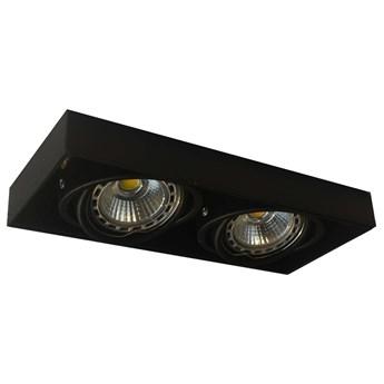 Wpust LAMPA sufitowa ONEON 94362-BK Zumaline metalowa OPRAWA prostokątna do zabudowy czarny