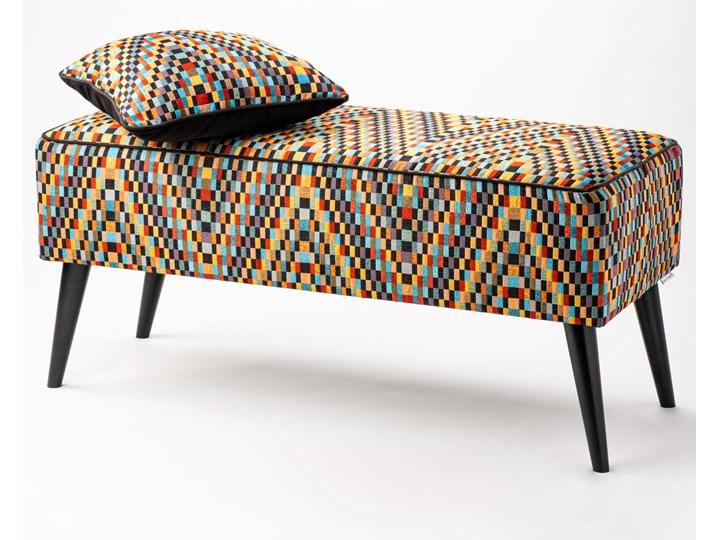 Ławka tapicerowana do przedpokoju Retro Barcelona Styl Vintage Materiał obicia Tkanina