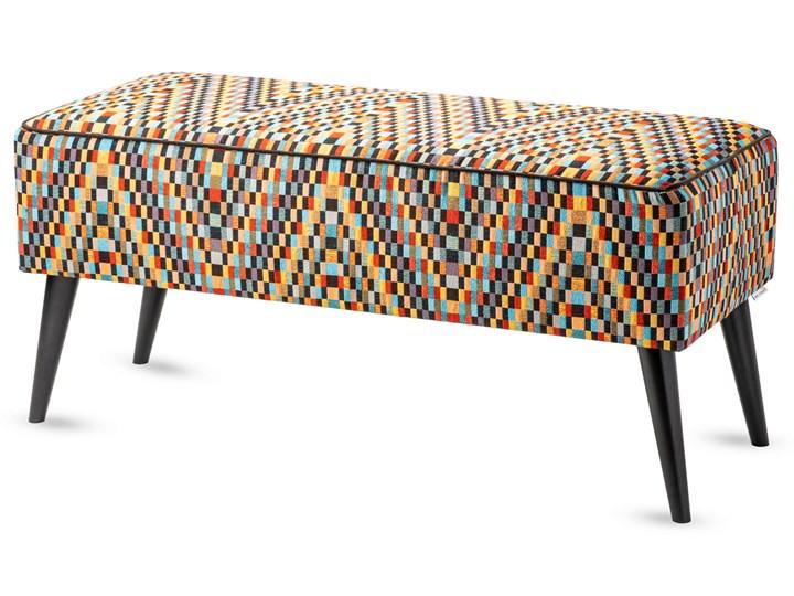 Ławka tapicerowana do przedpokoju Retro Barcelona Materiał nóżek Drewno