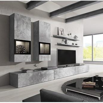 meblościanka BAROS : Dodaj oświetlenie: - ---, Wybierz kolor - beton jasny