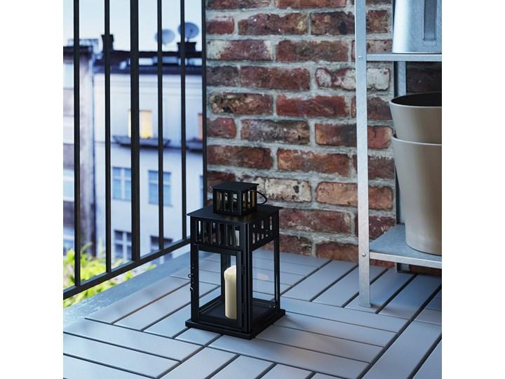 IKEA BORRBY Lampion, do wewnątrz/na zewnątrz czarny, 28 cm Metal Stal Kategoria Świeczniki i świece