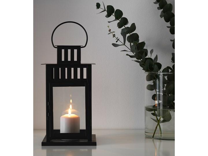 IKEA BORRBY Lampion, do wewnątrz/na zewnątrz czarny, 28 cm Stal Metal Kategoria Świeczniki i świece