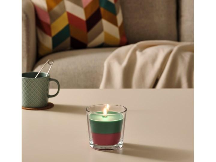 IKEA FORTGÅ Świeca zapachowa w szkle, kokos i kwiaty/ziel/róż, 9 cm Świecznik Kategoria Świeczniki i świece Kolor Różowy