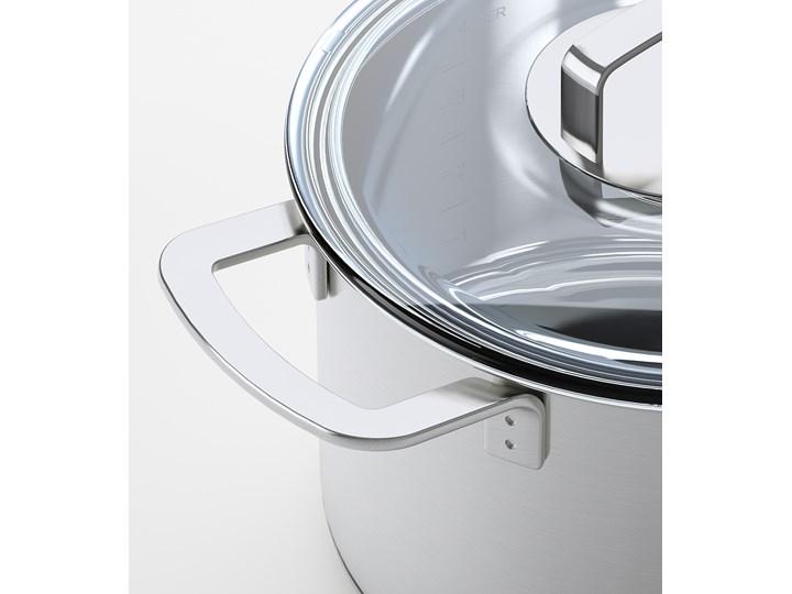 IKEA IKEA 365+ Garnek z pokrywką, stal nierdz/szkło, 5 l Kolor Szary Aluminium Stal nierdzewna Indukcja