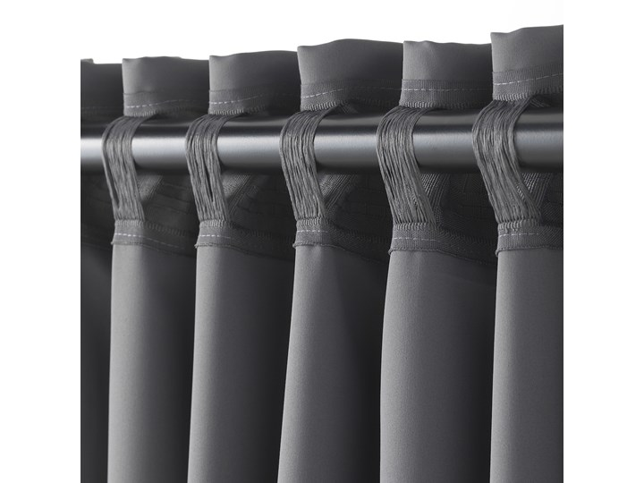 IKEA MAJGULL Zasłony zaciemniające, para, Szary, 145x300 cm Mocowanie Taśma Zasłona zaciemniająca Bawełna Mocowanie