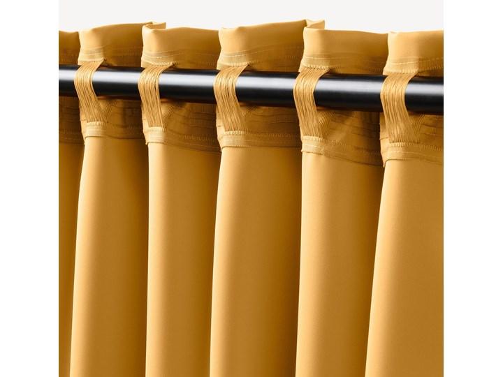 IKEA MAJGULL Zasłony zacieniające, 1 para, Żółty, 145x300 cm Bawełna Mocowanie