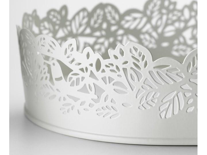 IKEA SAMVERKA Podstawka na świecę, owal biały, 35x15 cm Metal Stal Kategoria Świeczniki i świece