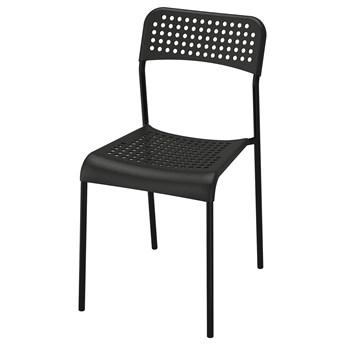 IKEA ADDE Krzesło, Czarny, Przetestowano dla: 110 kg