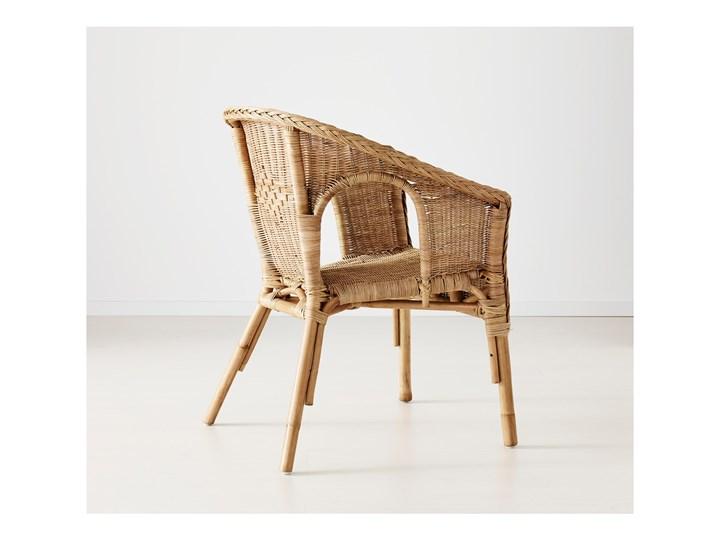 IKEA AGEN Krzesło, rattan/bambus, Szerokość: 58 cm Tworzywo sztuczne Metal Styl Nowoczesny Drewno Kategoria Krzesła ogrodowe