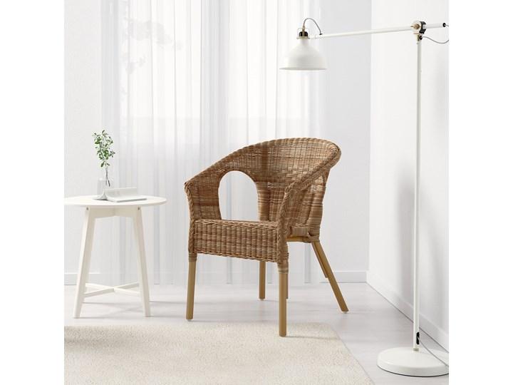 IKEA AGEN Krzesło, rattan/bambus, Szerokość: 58 cm Metal Tworzywo sztuczne Drewno Styl Nowoczesny