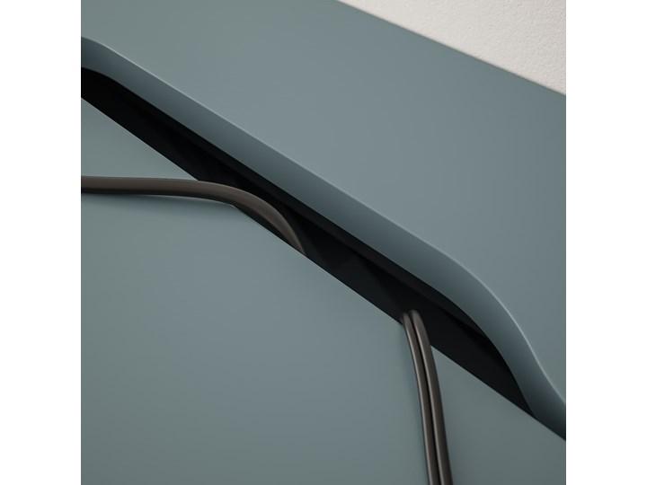 IKEA ALEX Biurko, Szaroturkusowy, 100x48 cm Szerokość 100 cm Stal Płyta MDF Kategoria Biurka