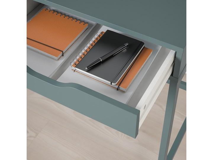 IKEA ALEX Biurko, Szaroturkusowy, 100x48 cm Płyta MDF Stal Szerokość 100 cm Kategoria Biurka Kolor Szary