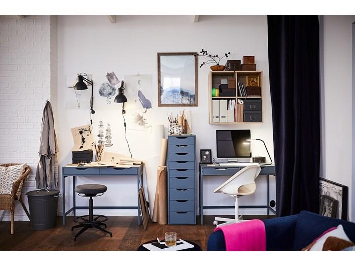 IKEA ALEX Biurko, Szaroturkusowy, 100x48 cm Stal Szerokość 100 cm Płyta MDF Kategoria Biurka