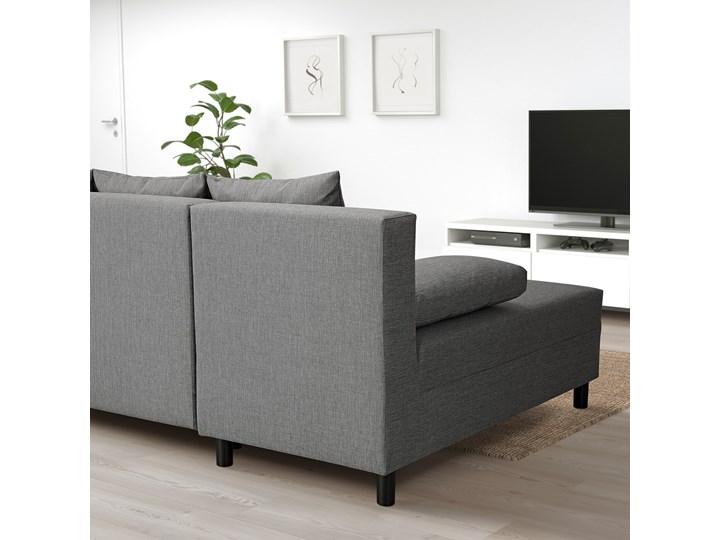 IKEA ANGSTA Rozkładana sofa 3-osobowa, z szezlongiem szary, Wysokość łóżka: 42.5 cm Prawostronne Liczba miejsc Trzyosobowy Nóżki Na nóżkach