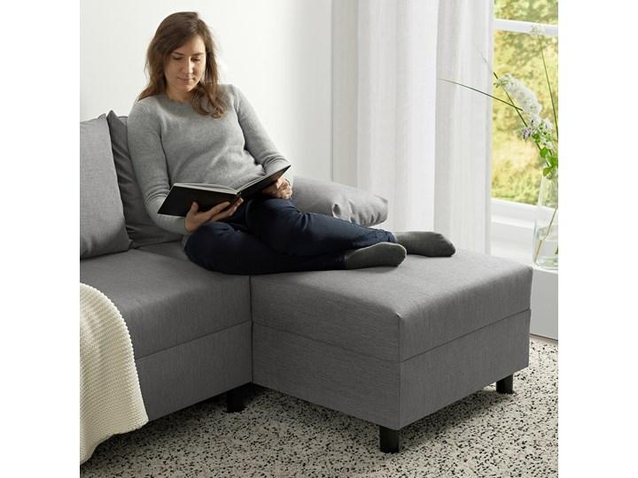 IKEA ANGSTA Rozkładana sofa 3-osobowa, z szezlongiem szary, Wysokość łóżka: 42.5 cm Prawostronne Liczba miejsc Trzyosobowy