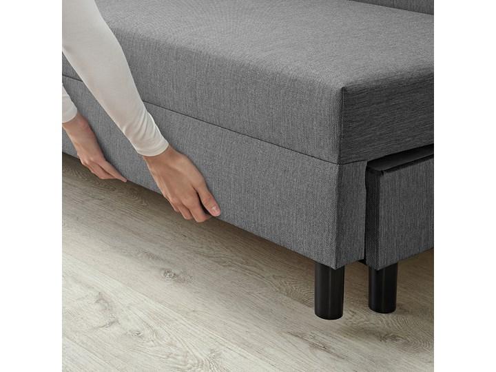 IKEA ANGSTA Rozkładana sofa 3-osobowa, z szezlongiem szary, Wysokość łóżka: 42.5 cm Prawostronne Liczba miejsc Trzyosobowy Liczba miejsc Dwuosobowy