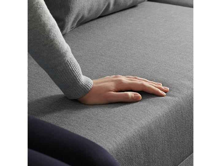 IKEA ANGSTA Rozkładana sofa 3-osobowa, z szezlongiem szary, Wysokość łóżka: 42.5 cm Prawostronne Rozkładanie Rozkładany