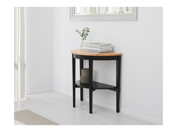 IKEA ARKELSTORP Stolik podokienny, czarny, 80x40x75 cm Drewno Rozmiar blatu 75x80 cm
