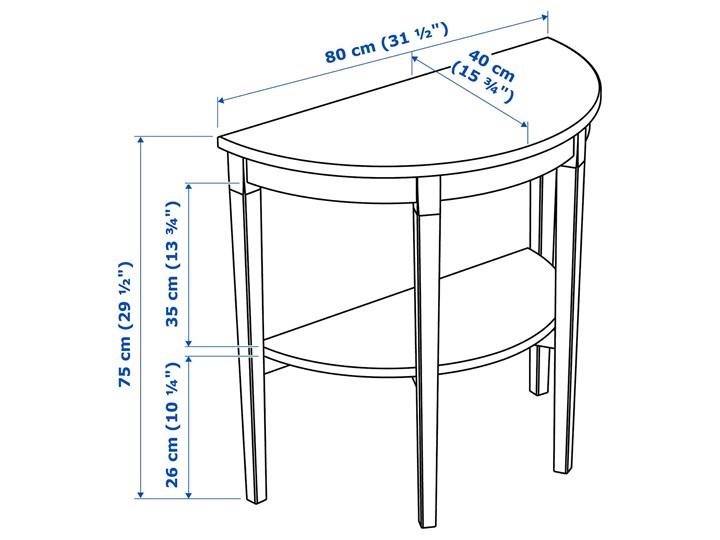 IKEA ARKELSTORP Stolik podokienny, czarny, 80x40x75 cm Rozmiar blatu 75x80 cm Drewno Kategoria Stoliki i ławy