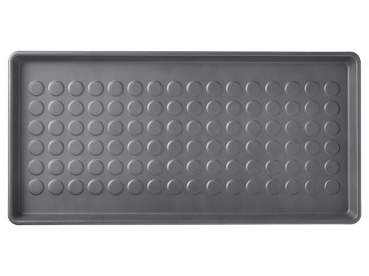 IKEA BAGGMUCK Mata na buty, do wewnątrz/na zewnątrz/szary, 71x35 cm Tworzywo sztuczne Kategoria Wycieraczki