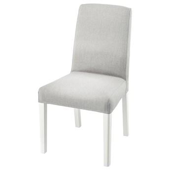 IKEA BERGMUND Krzesło, biały/Orrsta jasnoszary, Przetestowano dla: 110 kg