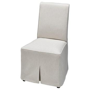 IKEA BERGMUND Pokrycie krzesła, długie, Kolboda beżowy/ciemnoszary