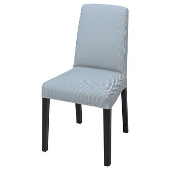 IKEA BERGMUND Pokrycie krzesła, Rommele granatowy/biały