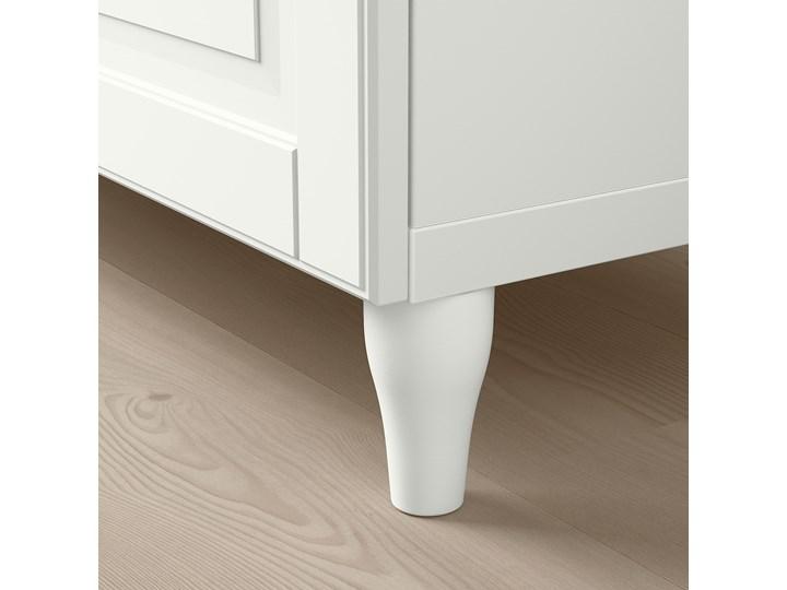 IKEA BESTÅ Kombinacja regałowa z drzw/szuf, Biały/Smeviken/Kabbarp biały, 120x42x76 cm Drewno Kategoria Komody Płyta MDF Szerokość 120 cm Głębokość 42 cm Kolor Beżowy
