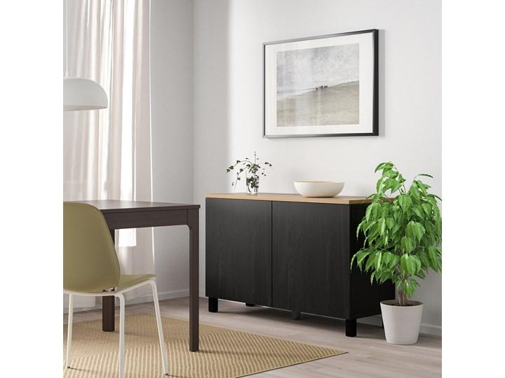 IKEA BESTÅ Kombinacja z drzwiami, Czarnybrąz/Lappviken/Stubbarp czarnybrąz, 120x42x76 cm Głębokość 42 cm Szerokość 120 cm Płyta MDF Drewno Kategoria Komody
