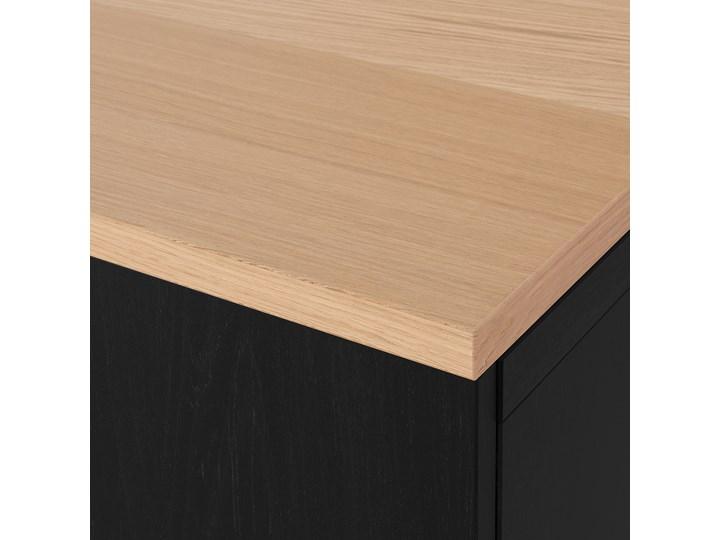 IKEA BESTÅ Kombinacja z drzwiami, Czarnybrąz/Lappviken/Stubbarp czarnybrąz, 120x42x76 cm Głębokość 42 cm Płyta MDF Drewno Szerokość 120 cm Kategoria Komody