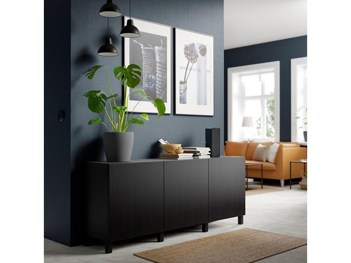 IKEA BESTÅ Kombinacja z drzwiami, Czarnybrąz/Lappviken/Stubbarp czarnybrąz, 180x42x74 cm Głębokość 42 cm Płyta MDF Wysokość 42 cm Z szafkami Szerokość 180 cm Kategoria Komody