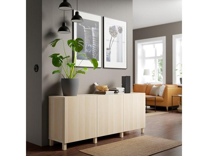 IKEA BESTÅ Kombinacja z drzwiami, Dąb bejcowany na biało/Lappviken/Stubbarp dąb bejcowany na biało, 180x42x74 cm Z szafkami Drewno Głębokość 42 cm Płyta MDF Szerokość 180 cm Wysokość 42 cm Pomieszczenie Pokój nastolatka