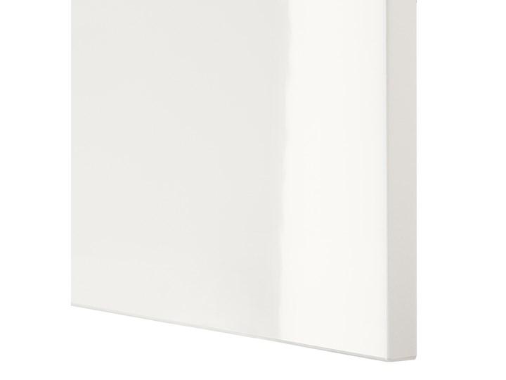 IKEA BESTÅ Kombinacja z drzwiami, Dąb bejcowany na biało/Selsviken połysk/biel, 120x42x193 cm Płyta meblowa Płyta laminowana Płyta MDF Drewno Kolor Beżowy
