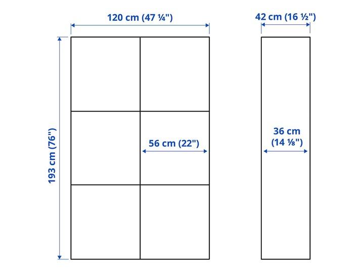 IKEA BESTÅ Kombinacja z drzwiami, Dąb bejcowany na biało/Selsviken połysk/biel, 120x42x193 cm Drewno Płyta meblowa Płyta MDF Płyta laminowana Kategoria Szafki i regały