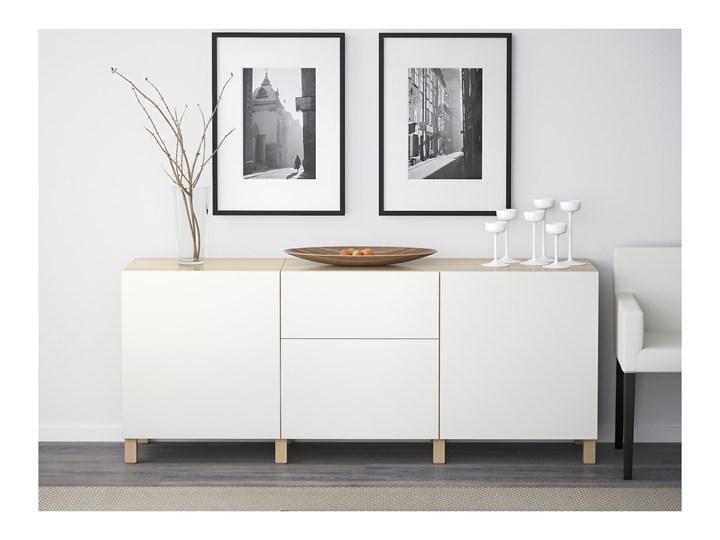 IKEA BESTÅ Kombinacja z szufladami, Dąb bejcowany na biało/Lappviken biały, 180x40x74 cm Płyta MDF Szerokość 180 cm Głębokość 40 cm Drewno Kategoria Komody