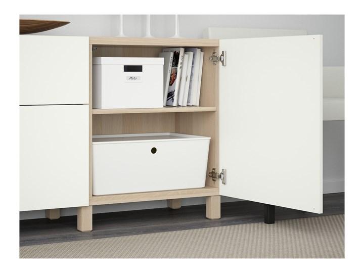 IKEA BESTÅ Kombinacja z szufladami, Dąb bejcowany na biało/Lappviken biały, 180x40x74 cm Głębokość 40 cm Szerokość 180 cm Drewno Płyta MDF Kategoria Komody