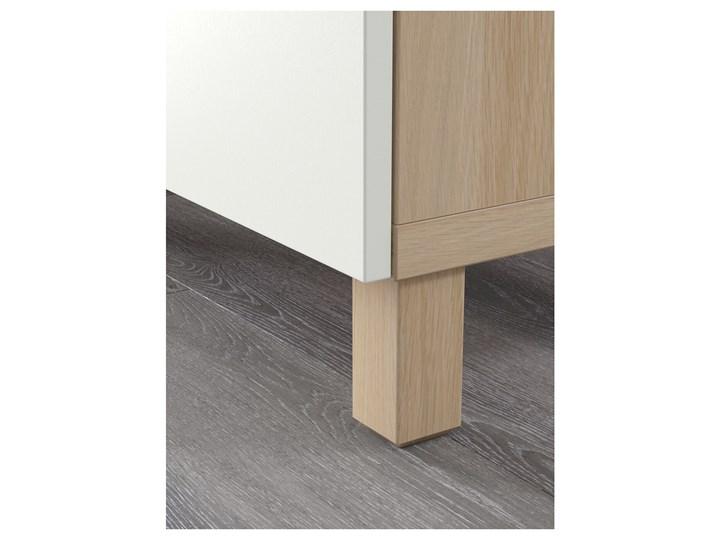 IKEA BESTÅ Kombinacja z szufladami, Dąb bejcowany na biało/Lappviken biały, 180x40x74 cm Drewno Głębokość 40 cm Szerokość 180 cm Kategoria Komody Płyta MDF Kolor Beżowy