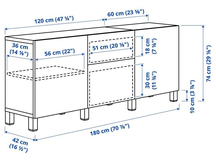 IKEA BESTÅ Kombinacja z szufladami, Dąb bejcowany na biało/Lappviken biały, 180x40x74 cm Drewno Kategoria Komody Płyta MDF Szerokość 180 cm Głębokość 40 cm Kolor Beżowy