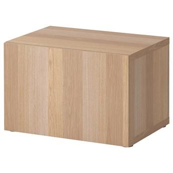 IKEA BESTÅ Szafka z drzwiczkami, Dąb bejcowany na biało/Lappviken dąb bejcowany na biało, 60x42x38 cm
