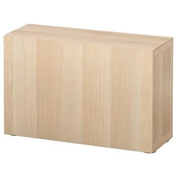 IKEA BESTÅ Szafka z drzwiczkami, Dąb bejcowany na biało/Lappviken dąb bejcowany na biało, 60x22x38 cm
