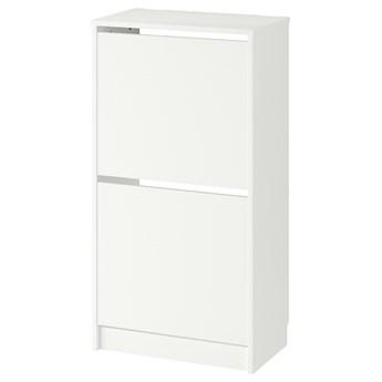 IKEA BISSA Szafka na buty, 2 przegrody, biały, 49x28x93 cm