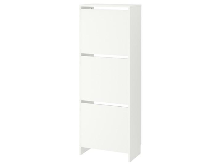 IKEA BISSA Szafka na buty, 3 przegrody, biały, 49x28x135 cm Płyta meblowa Płyta MDF Płyta laminowana Kategoria Szafki i regały