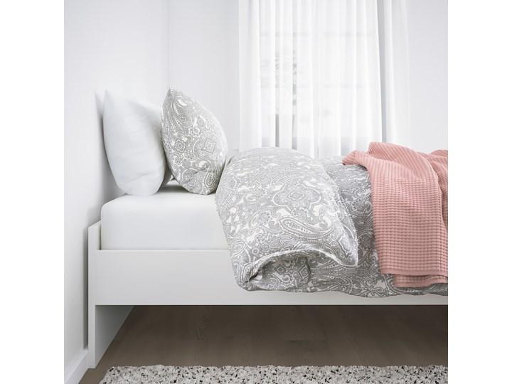 IKEA BRIMNES Rama łóżka, biały/Lönset, 160x200 cm Kategoria Łóżka do sypialni Tkanina Łóżko drewniane Pojemnik na pościel Bez pojemnika