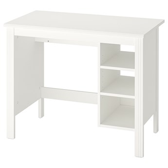 IKEA BRUSALI Biurko, Biały, 90x52 cm
