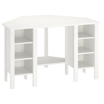 IKEA BRUSALI Biurko narożne, Biały, 120x73 cm