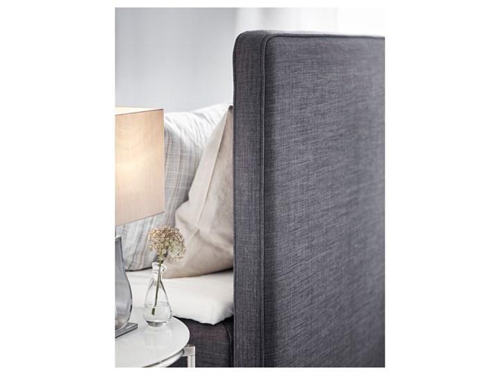 IKEA DUNVIK Łóżko kontynentalne, Vatneström średnio twardy/Tistedal ciemnoszary, 180x200 cm Łóżko tapicerowane Styl Klasyczny