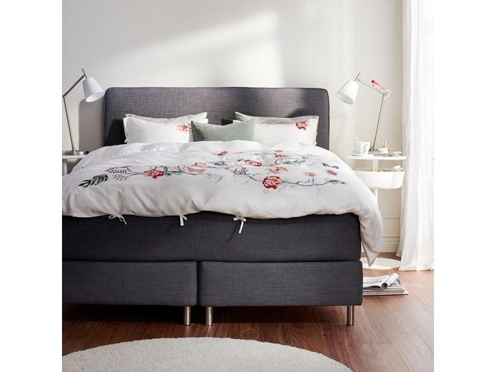 IKEA DUNVIK Łóżko kontynentalne, Vatneström średnio twardy/Tistedal ciemnoszary, 180x200 cm Łóżko tapicerowane Kategoria Łóżka do sypialni Styl Klasyczny