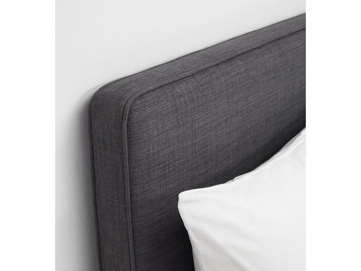 IKEA DUNVIK Łóżko kontynentalne, Vatneström średnio twardy/Tistedal ciemnoszary, 180x200 cm Styl Klasyczny Łóżko tapicerowane Kategoria Łóżka do sypialni